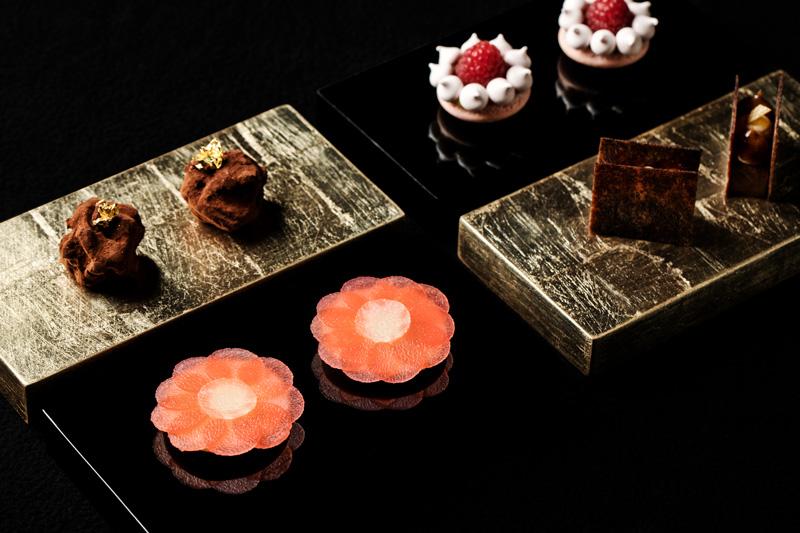 Decorative Food Entres From Addison Restaurant San Diego California