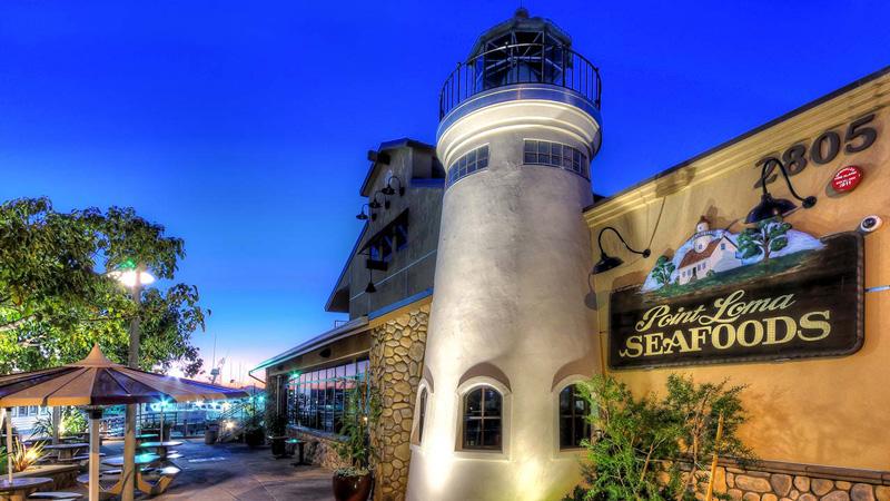 Point Loma Sea Food Restaurant Exterior At Night