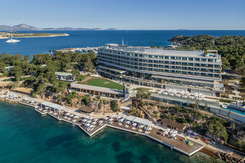 Aerial Overview of theFour Seasons Astir Palace Hotel Athens Greece