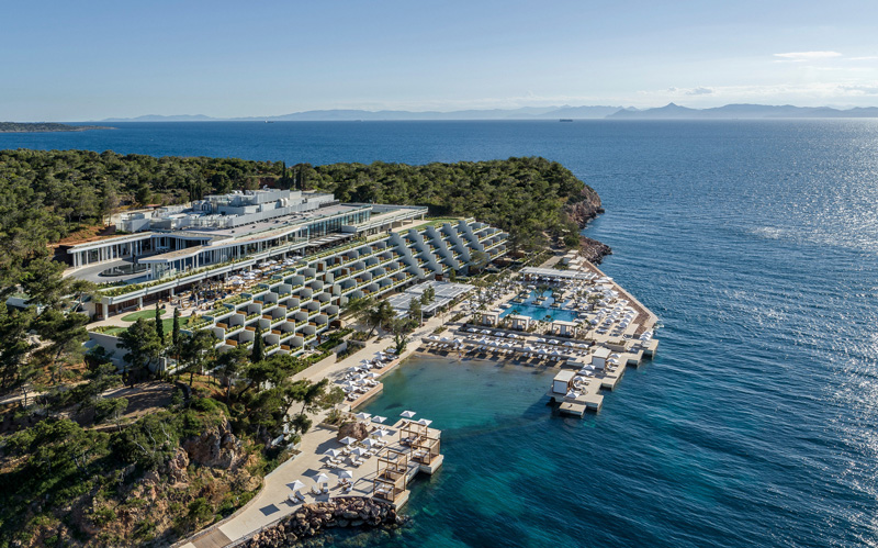 Aerial Overview Of TheFour Seasons Astir Palace Hotel Nafsika Building Athens Greece