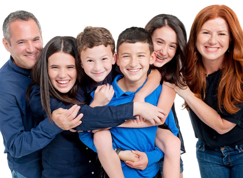 Kara Goldin And Her Family Smiling And Holding Eachother