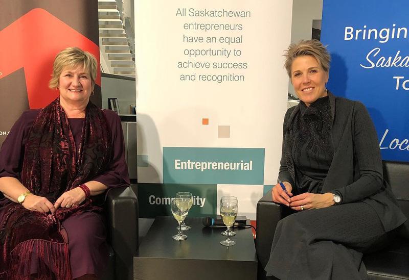 Kellie Garrett Sitting Down And Being Interviewed By Lisa Peters