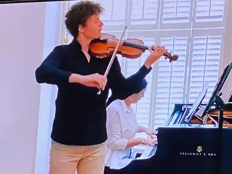 Olga Balakleets Playing Piano With Son Playing John Gallant Playing Violin