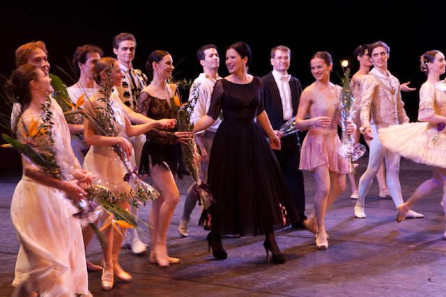 Olga Balakleets On Stage With Ballet Performers