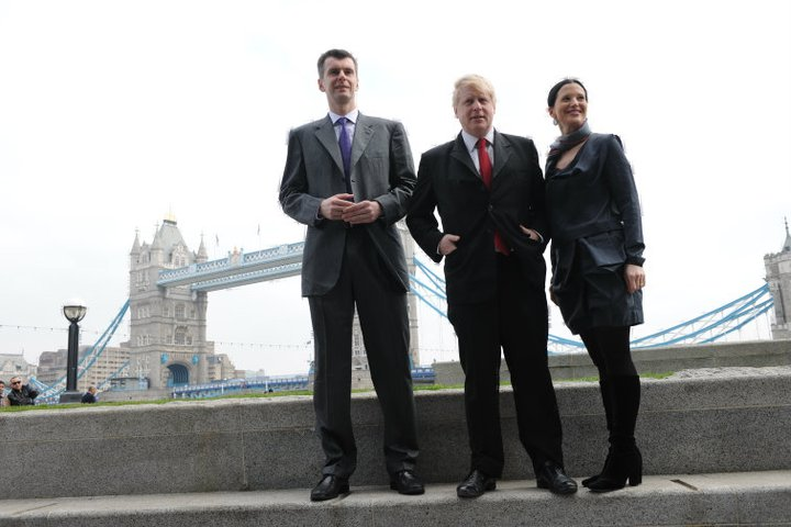 Olga Balakleets With Boris Johnson With Tower Bridge In The Background