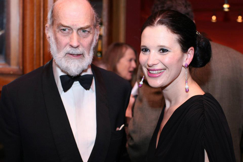Olga Balakleets With Prince Michael of Kent At The Russian Ballet Gala Event In London, England