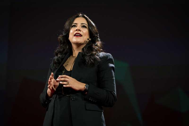 Reshma Saujani Speaking On Stage