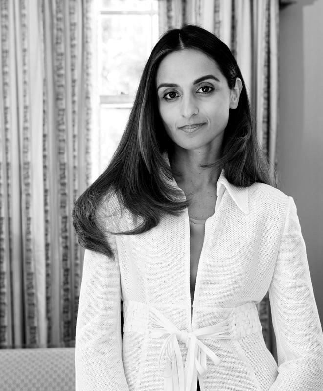 Black And White Photograph Of Farzana Baduel CEO Of CURZON PR