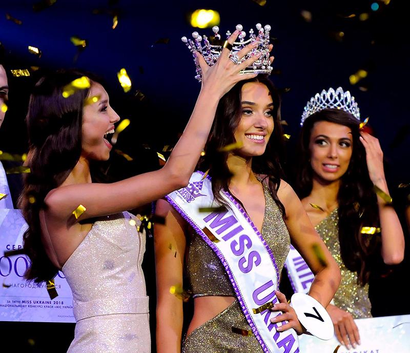 Veronika Didusenko Being Crowned Miss Ukraine 2018