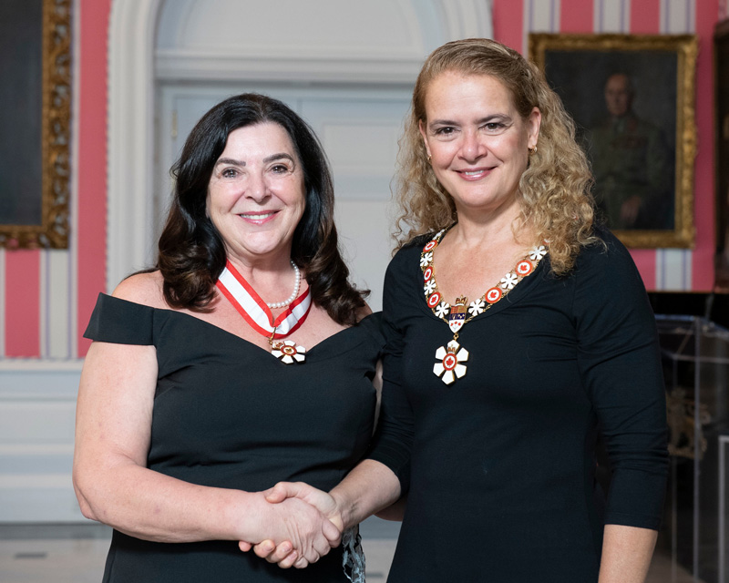 Vianne Timmons ReceivingTheOrder Of Canada Shaking The Hand Of Julie Payette The GovernorGeneral Of Canada